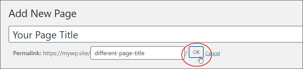 Changing the page slug.