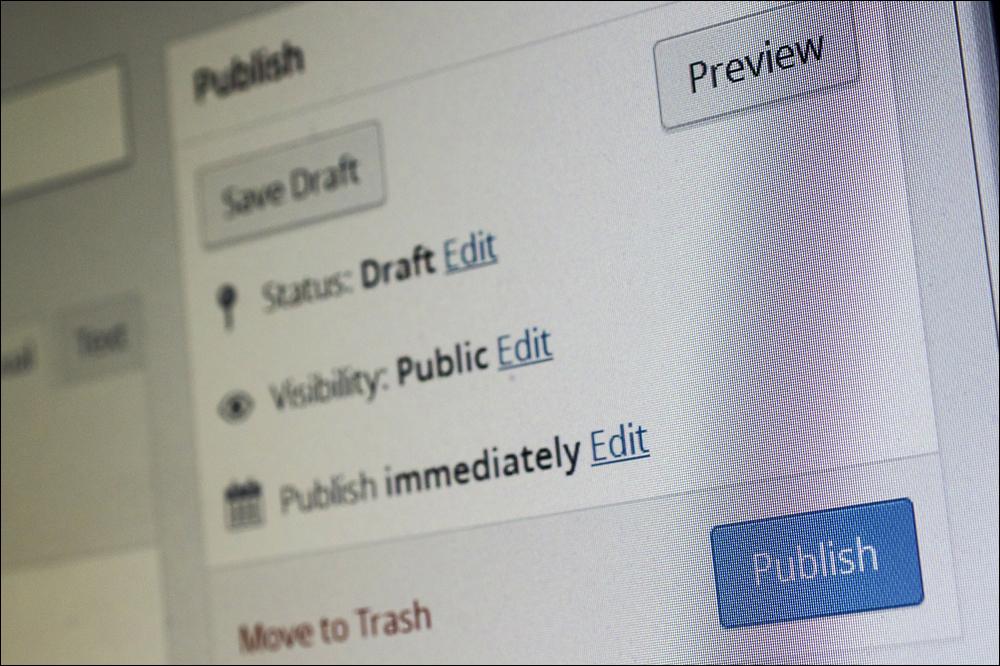 WordPress Publish box.