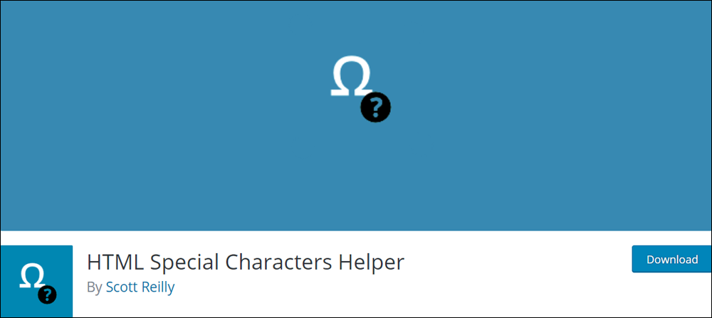 HTML Special Characters Helper
