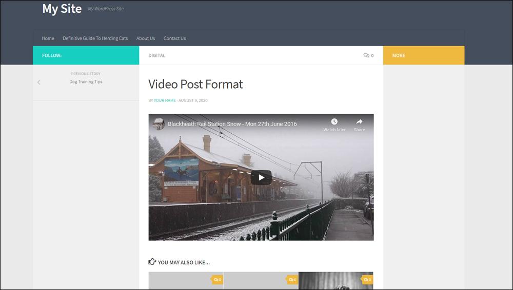 Video post format.