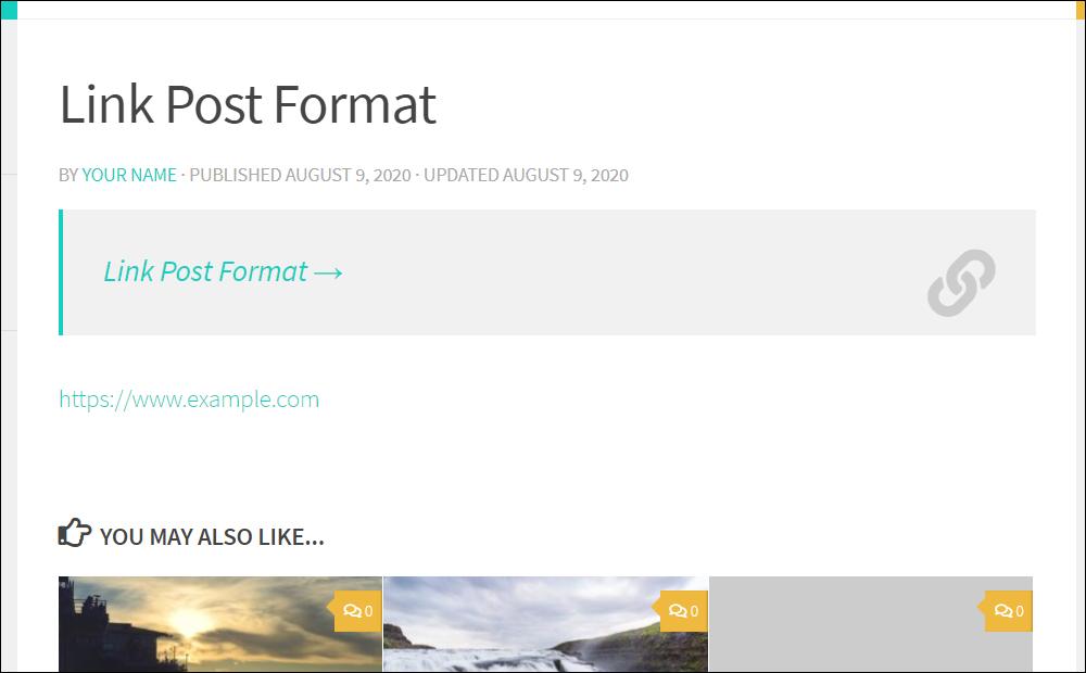 Link post format.