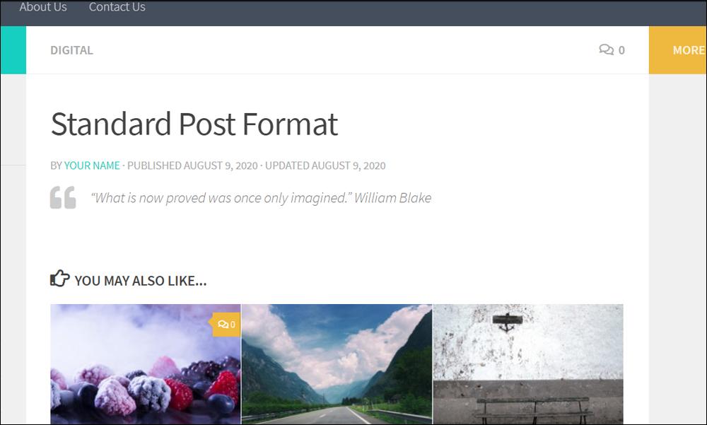 Standard post format.