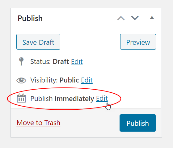 Publish immediately > Edit