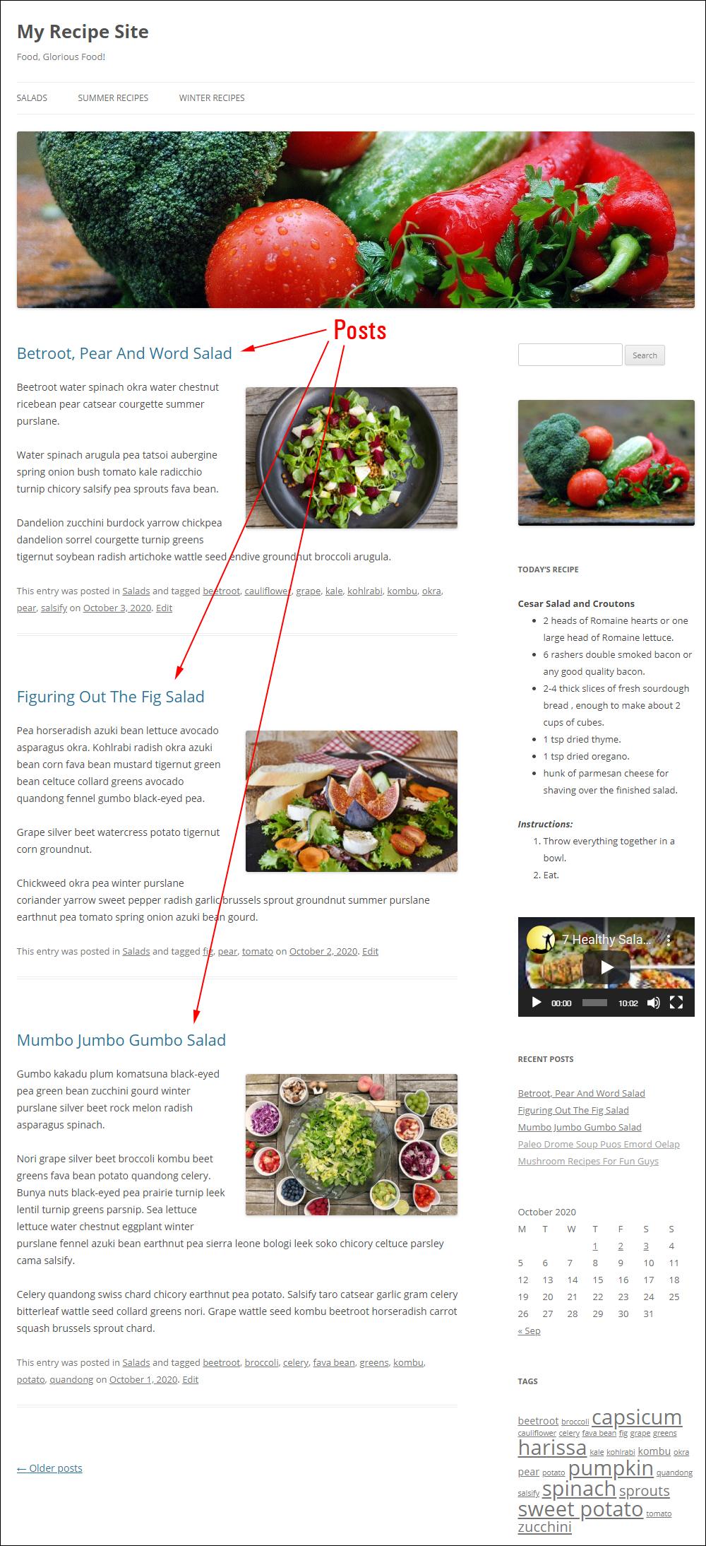 A WordPress blog