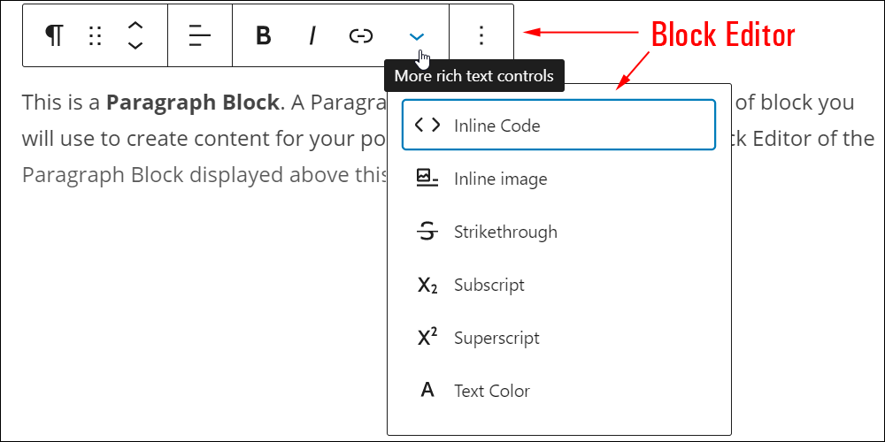 Block Editor - Paragraph Block