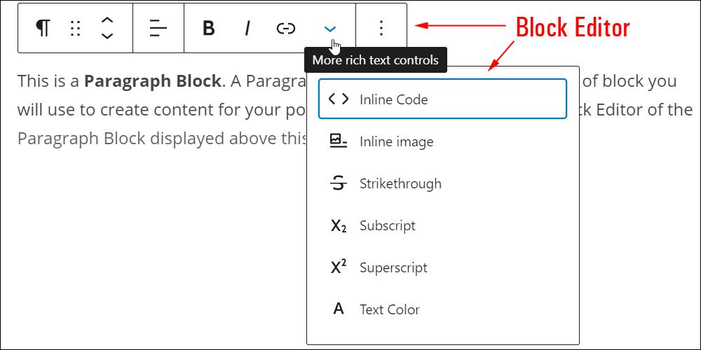 WordPress Content Editor - Block Editor