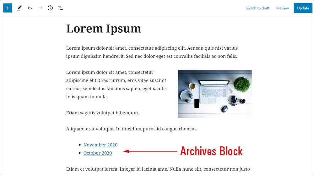 Archives Block.