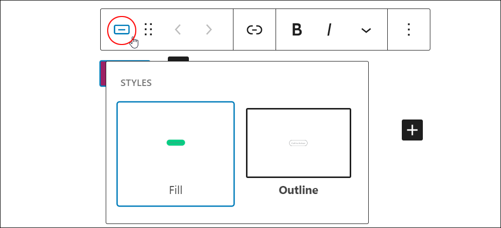 Buttons icon - Button editor.