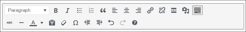Classic block content editor.