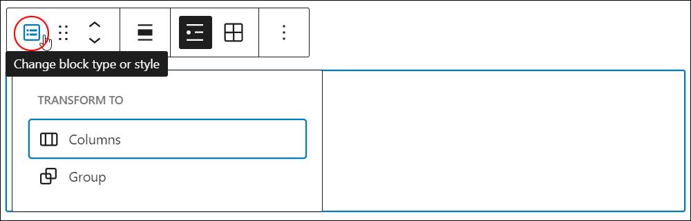 Latest Posts block - Change block type or style.