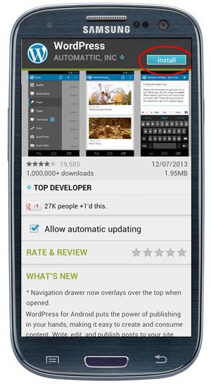Install the WordPress app.