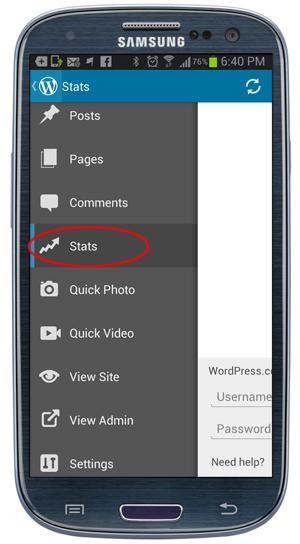 WordPress App - Stats.