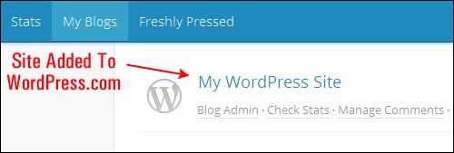 Add your site to WordPress.com