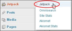 WordPress Menu - Jetpack