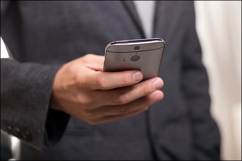 Mobile phone user.