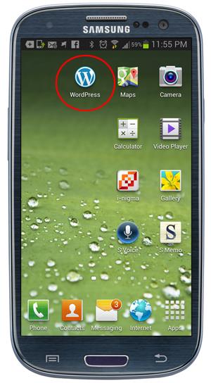 WordPress mobile App icon.