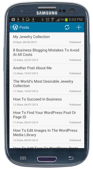 Mobile App - Posts screen.