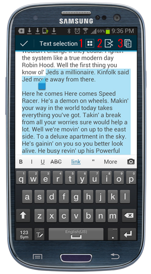 WordPress Mobile App - Content Editing Options.