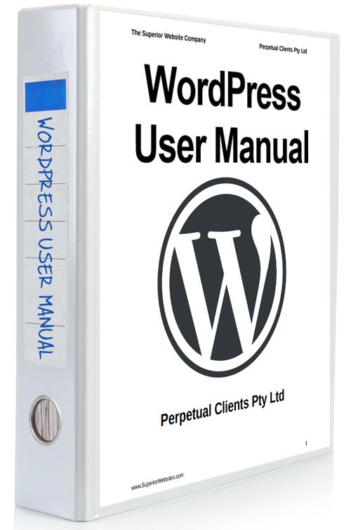 WordPress User Manual binder - product shot.