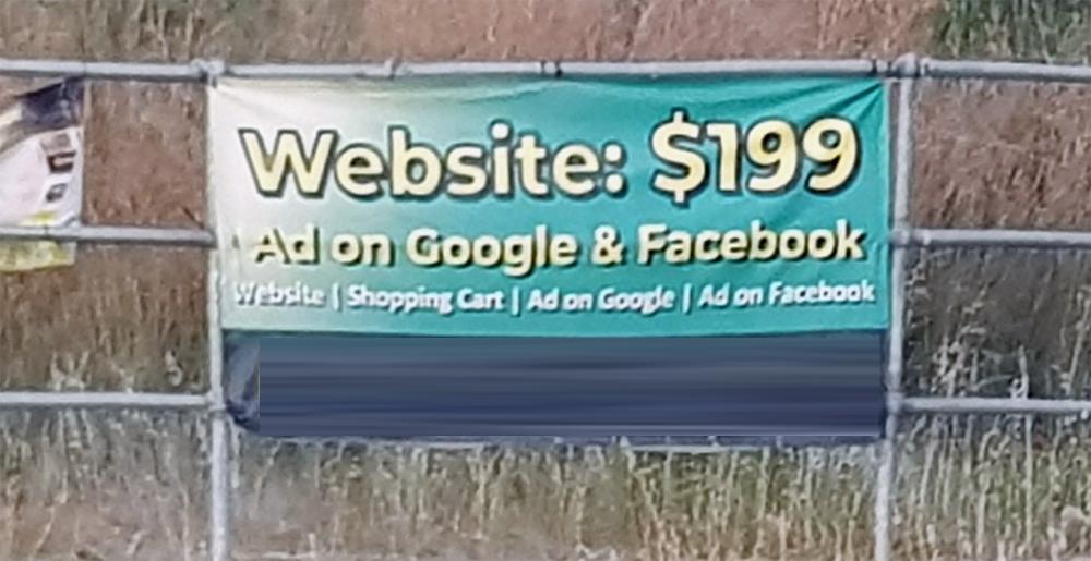 Cheap websites - roadside banner
