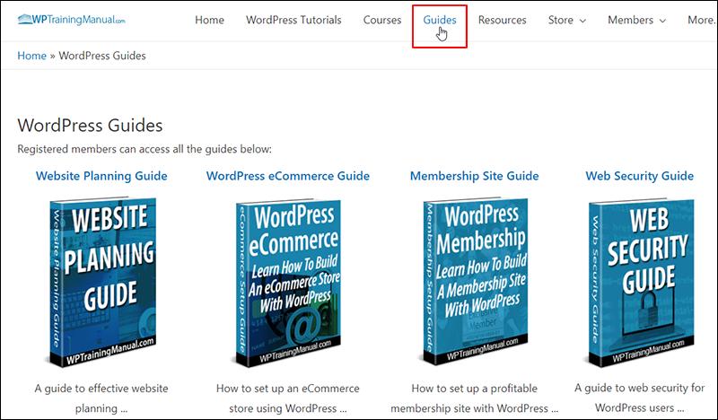 WPTrainingManual.com - Guides