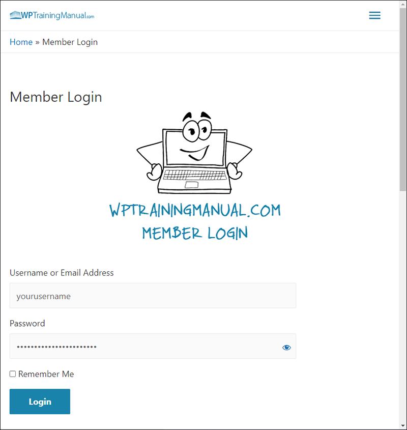 WPTrainingManual.com - Member Login