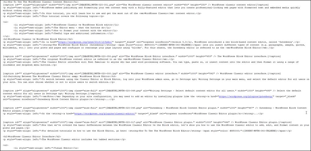 Sample tutorial content file