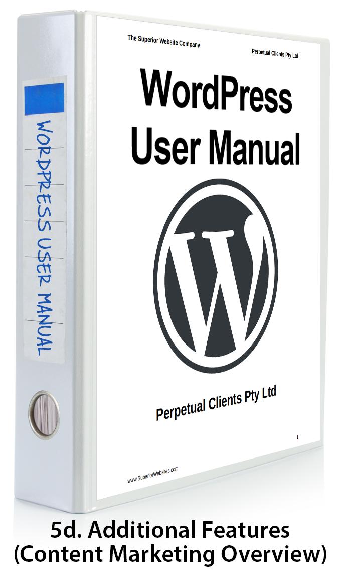 WordPress User Manual Part 5d - Content Marketing Overview
